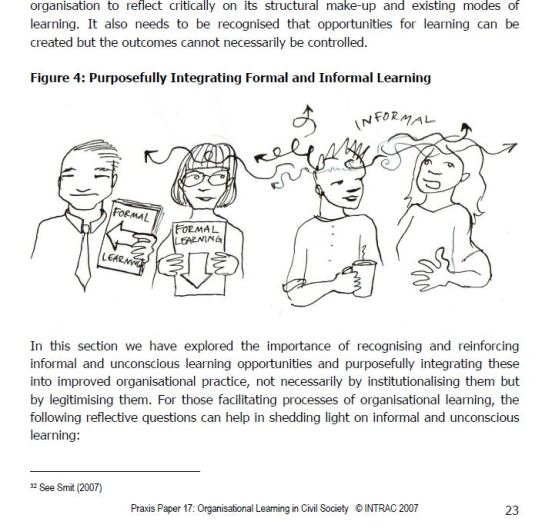 INTRAC Praxis paper informal and formal learning