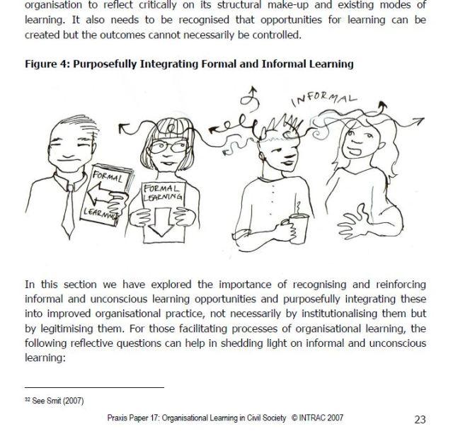 intrac organisational learning development cartoons