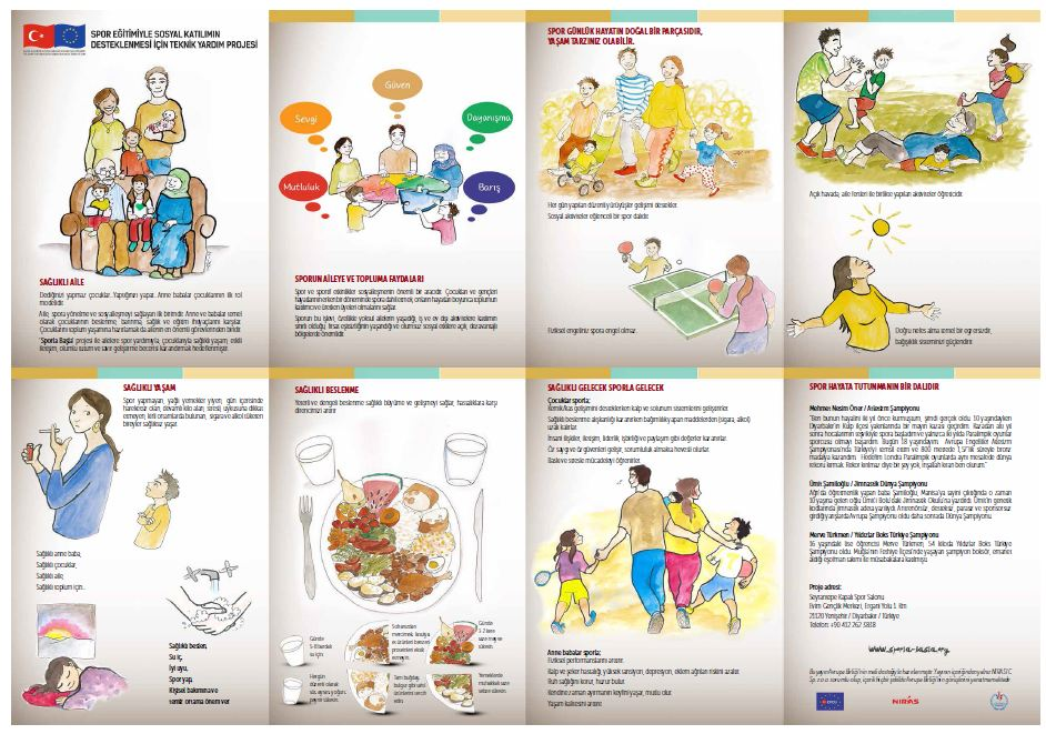 Sports Devt healthy family brochure Turkish