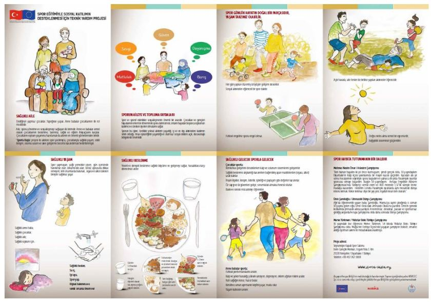 Sports Devt healthy family brochure Turkish