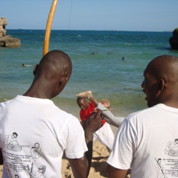 OUr illustrated capoeira t-shirts in action