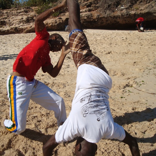Capoeira tshirt on coco beach 2