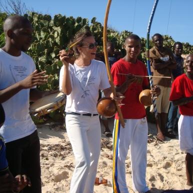 Capoeira tshirt on coco beach 3