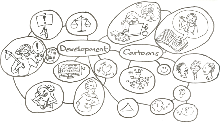 Development Cartoons bubble diagram