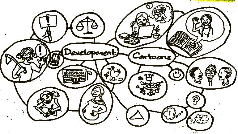 Development Cartoons bubble diagram