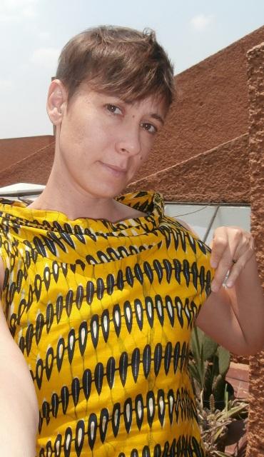 kitenge shirt selfie