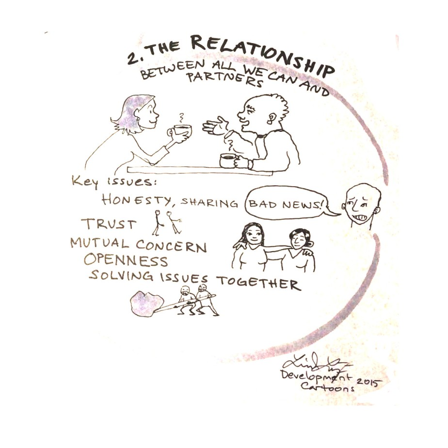 One of the fundamenals to follow in the monitoring and evaluation of All We Can partnerships: the quality of the relationship.