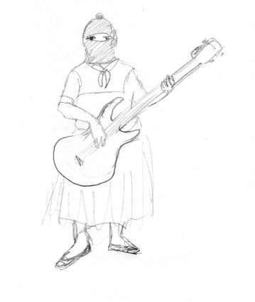 Zapatista girl band bassist