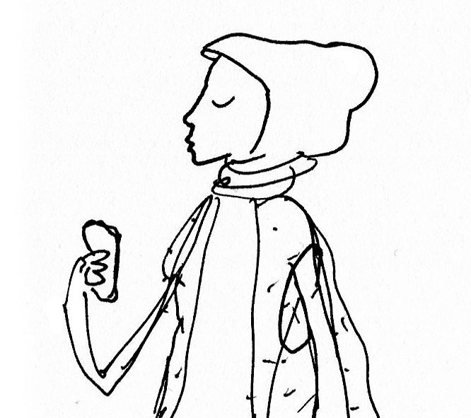 Sketch of the day: Scarf fashions croquis