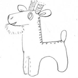 Goat with pompom beard!