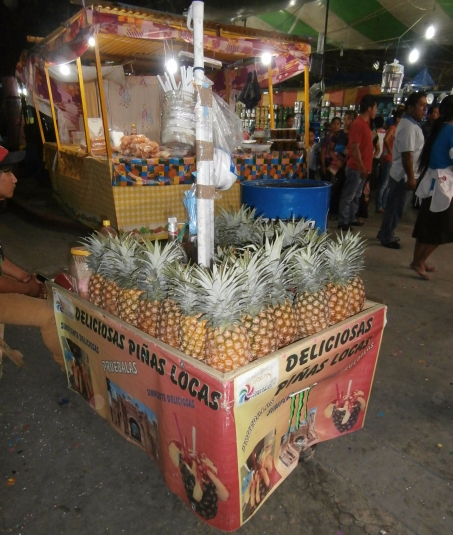 Pineapple, street food, Mexico