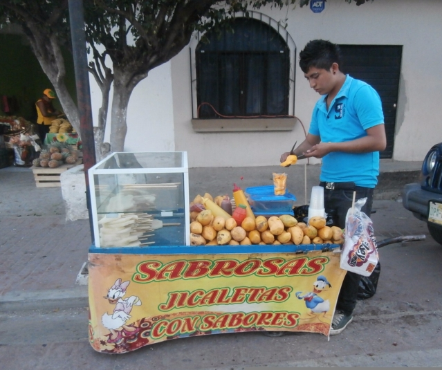 mango, jicaleta, Mexico, street food, fruit